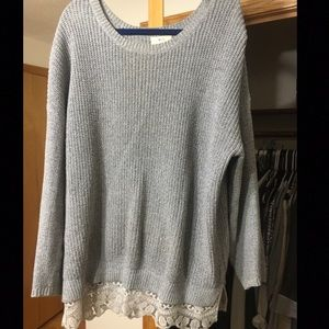 Urban Outfitters UO Pull Over Sweater Lace Detail